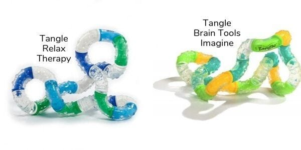 Tangle relax therapy och Tangle brain tools imagine